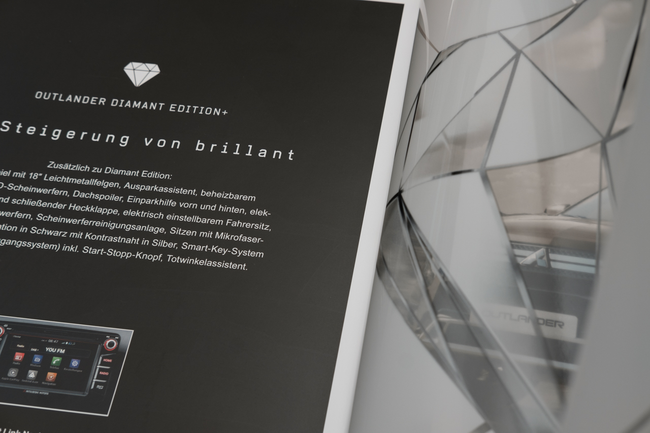 blokstudio Automobile Mitsubishi Diamant Edition Print Outlander